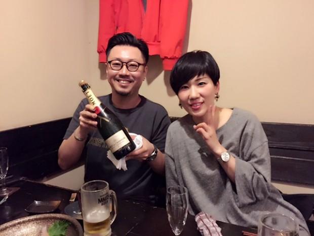 母からのプレゼント♡ シャンパン美味しい~♪