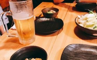 先日行った 笑来 にて♪ ビールが美味いっ(^^♪