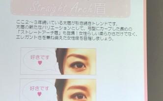 同一人物でも 眉だけで印象が変わる ~~( ゚Д゚)