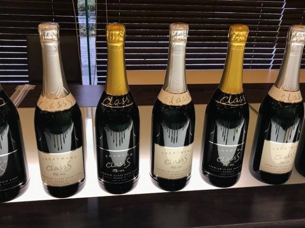 こちらはシャンパンと 思いきや、 シャンプーボトル♡